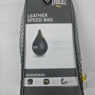 Everlast Leather Speed Bag, Size Large - New