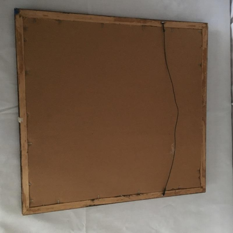 """Lovely wooden easel to display your art or hold your working canvas.  If you don't have any art worth displaying then use this lovely framed artwork by Mr. Stoneberg.. Great piece for your studio or anywhere else in your home or office. Easel measures 61.5"""" tall and can collapse for storage.  Local Pickup Only"""