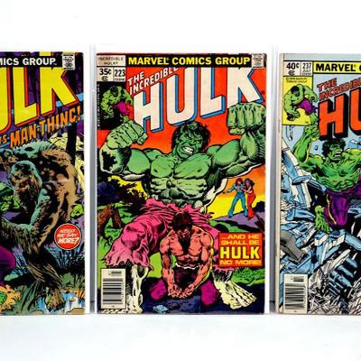 HULK #154 183 192 197 223 237 Bronze Age Comic Books Marvel Comics 1972-79