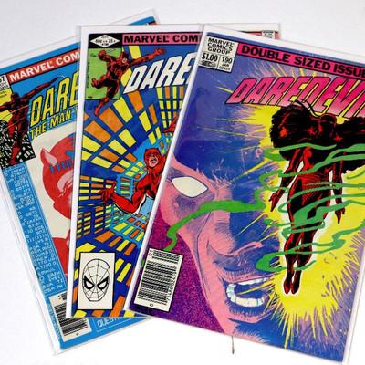 DAREDEVIL #167 #186 #190 Bronze Age Frank Miller Marvel Comics 1980-83