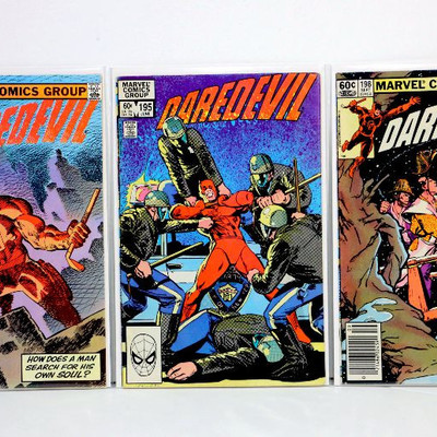 DAREDEVIL #191 #195 #198 Bronze Age (191 Last Frank Miller) Marvel Comics 1983