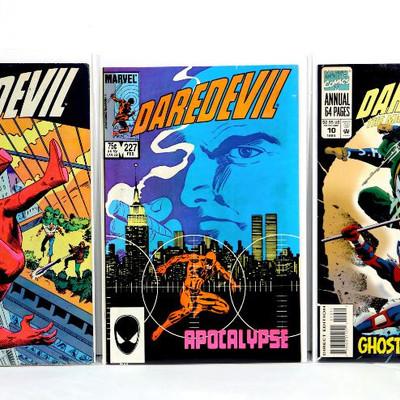DAREDEVIL #210 #227 Bronze Age Mike Zeck/Frank Miller Annual #10 Marvel 1984-94