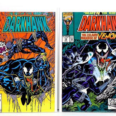 DARKHAWK #13 #14 Early VENOM Crossover Issues Marvel Comics 1992 - High grade