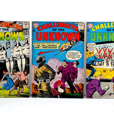 Challengers Of The Unknown #28 33 37 Silver Age Comic Books 1962/64 DC Comics