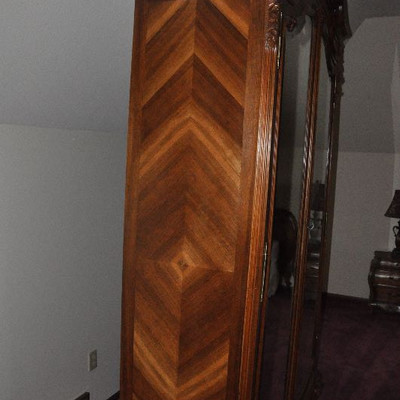 Antique French Bed and Wardrobe