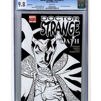 DOCTOR STRANGE The Oath #1 CGC 9.8 Sketch Cover Variant Marvel Comics 2006