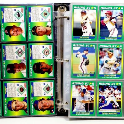Baseball Cards Collection in Album - TOPPS Fleer Score Donruss 259 Cards Set