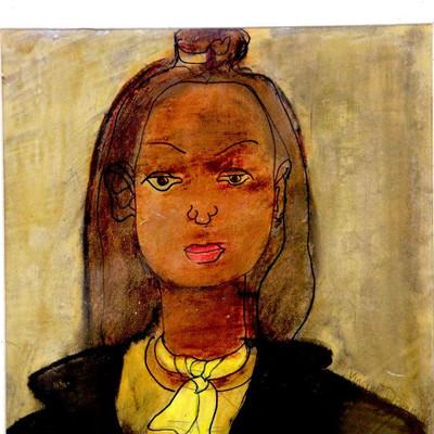 Vincent Drennan Original OIL Painting Portrait of The Woman