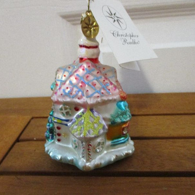 Christopher Radko Christmas Candy Chateau Ornament