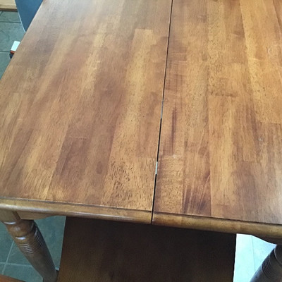 SOLID WOOD TABLE WITH TWO CHAIRS