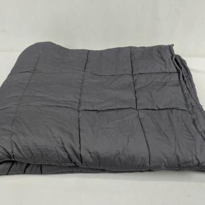 NEX Gray Weighted Blanket (48