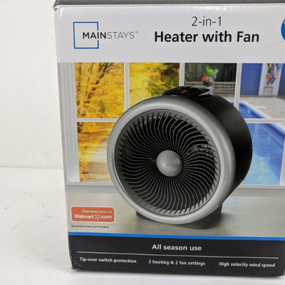 Mainstays Heater With Fan - New, Opened Box