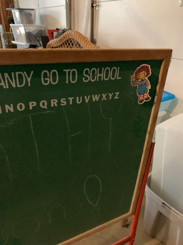 Two vintage chalkboards - ATF does not have the stand. Fair condition.