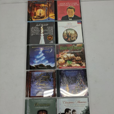 Qty 10 Misc Christmas CDs, Trans Siberian Orchestra-Christmas Memories