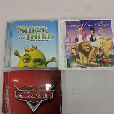 Qty 12 Misc Kid's CDs, Animated Classics Collection-Cars