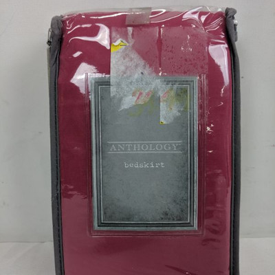 Anthology Bed Skirt, Berry - New