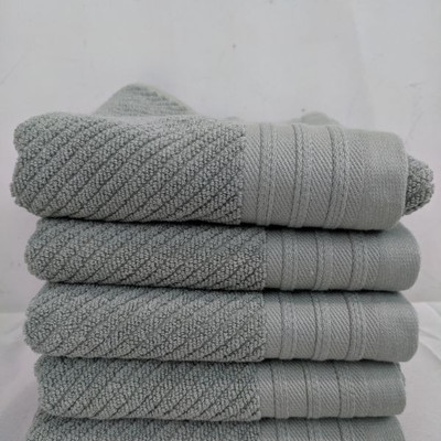 5 Mint Hand Towels - New