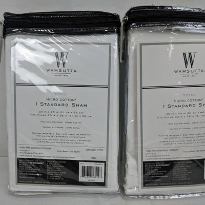 Wamsutta Microfiber Cotton Standard Sham, Qty 2 - New
