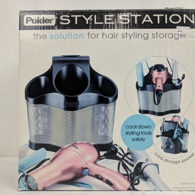 Polder Style Station, Hair Styling Storage - New
