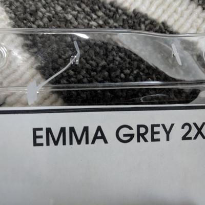 Grey Emma Mat 2 x 3' - New