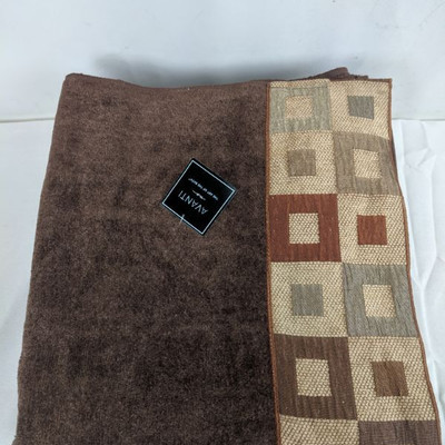 Avanti Bath Towels, Qty 4, Brown - New