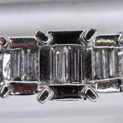 Engagement Ring - 14K White Gold & Genuine Natural Diamond Ring - .80ctw