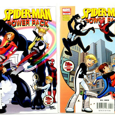 SPIDER-MAN Power Pack #1-4 Complete Limited Set Venom 2007 Marvel Comics