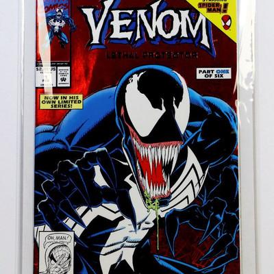 VENOM Lethal Protector #1 Red Foil Cover 1st print 1992 Marvel Comics