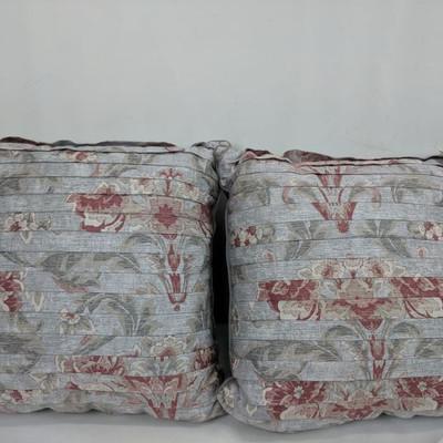 Sophie Decorative Floral Pillows, Set of 2, 16