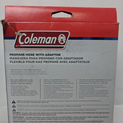 Coleman Propane Hose With Adapter - New