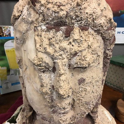 Buddha bust - concrete or plaster