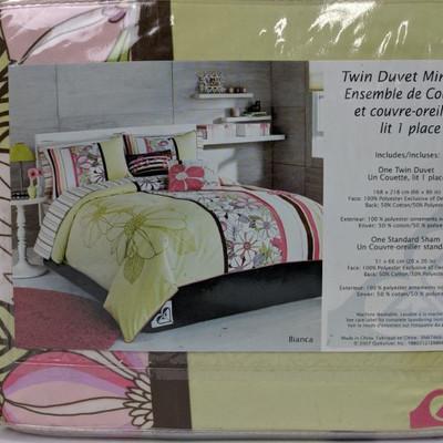 Roxy Room Twin Duvet Mini Set - New, Damaged Package