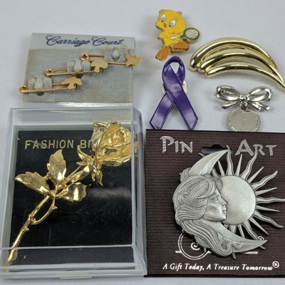 7 Misc Pins/Brooches
