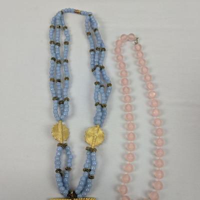 Costume Jewelry: 2 Beaded Necklaces