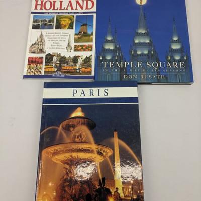 3 Travel Books: Holland - Paris