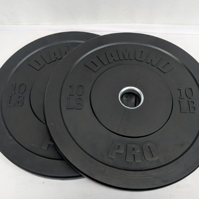 Diamond Pro 10 Lbs Plates, Set of 2 - New, No Package