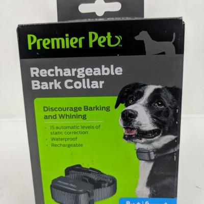 Premier Pet Rechargeable Bark Collar - New