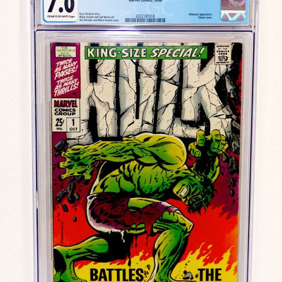 HULK Annual #1 CGC 7.0 King-Size Special Marvel Comics 10/1968