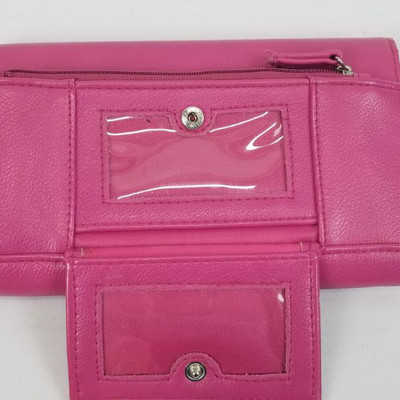 Pink Pleather Wallet