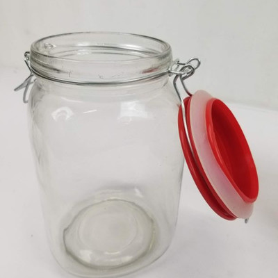 Dry Goods Canisters with Rubber Seal Lids - 2 Set