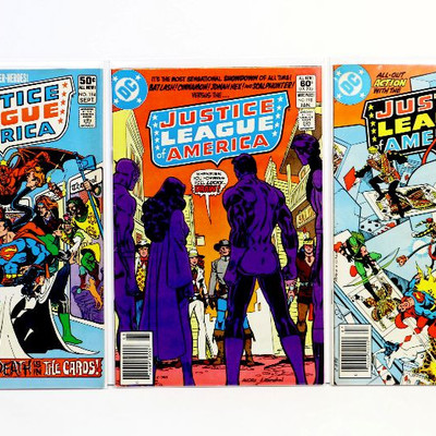 Justice League of America #144 177 188 191 194 198 204 Bronze Age Lot DC Comics 1977-82