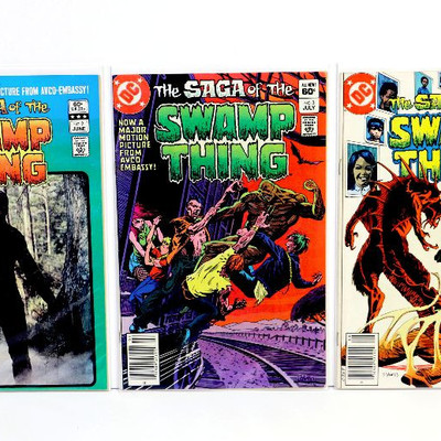 Saga Of The SWAMP THING #2 #3 #4 Bronze Age Comic Books Lot DC Comics 1982