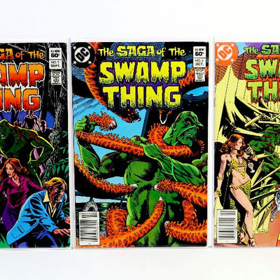 Saga Of The SWAMP THING #5 6 7 8 9 Bronze Age Comic Books Lot DC Comics 1982/83