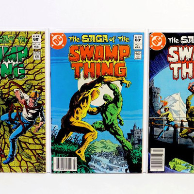 Saga Of The SWAMP THING #10 11 12 13 15 Bronze Age Comic Books Lot DC Comics 1983