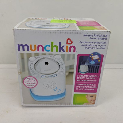 Munchkin Nursery Projector & Sound System - Tested, Works Except No Sound
