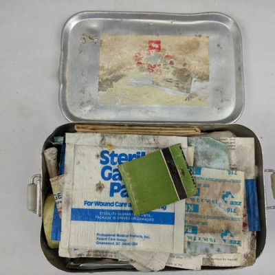 Vintage Hiker's Utility Belt And First Aid Kit