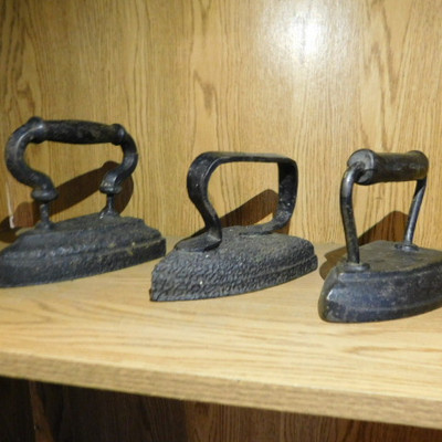 Set of Three Various Size Sad Irons