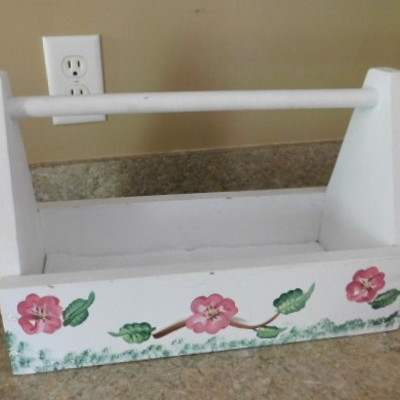 Hand Painted Wood Tool or Garden Box 16