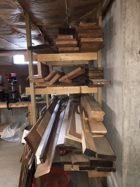 Assortment of Native Cherry Hardwood Lumber & 4 Boards of Ash 300-400 board feet