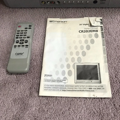 """Emerson 20"""" Televison With Manual"""